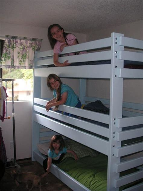 build a bunk bed build triple bunk bed free plans 187 woodworktips