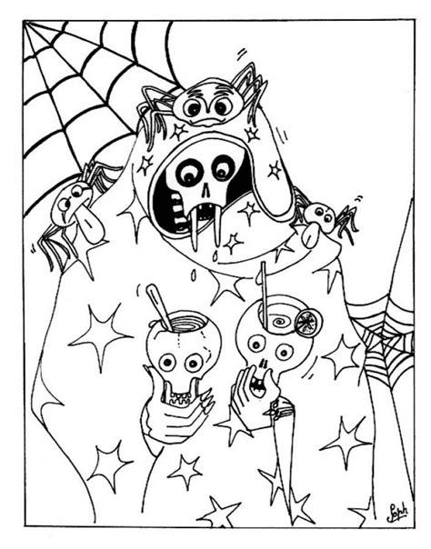 halloween coloring pages detailed free printable halloween coloring pages for kids