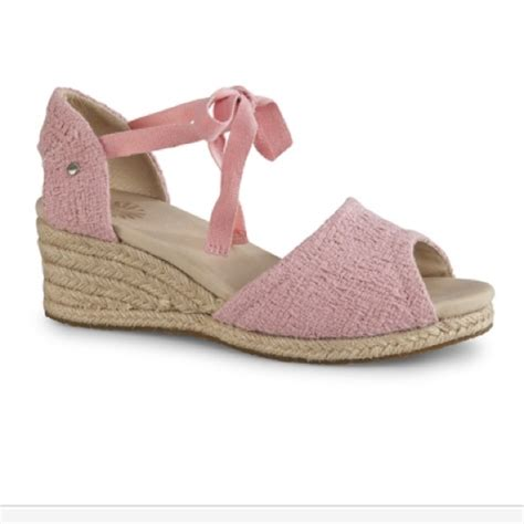 64 ugg shoes cco sale baby pink ugg wedge
