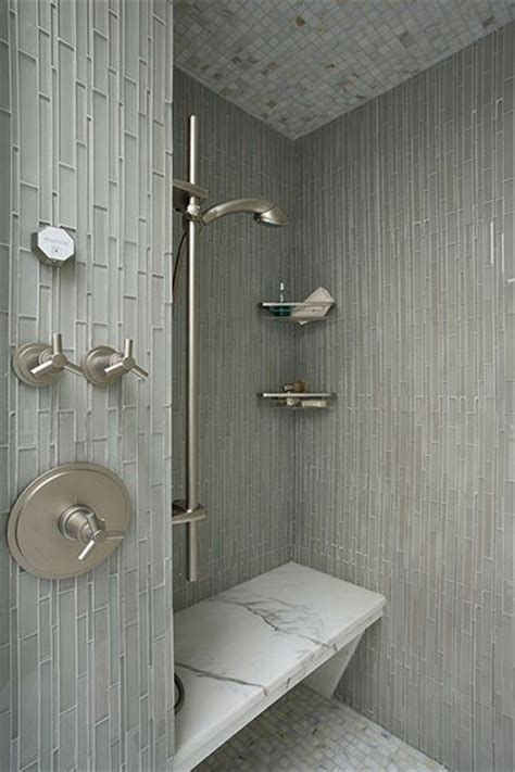 vertical tile bathroom shower bench elegant master bathroom ideas pinterest
