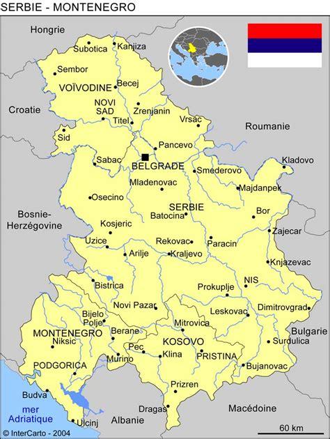 carte g 233 ographique et touristique de la serbie belgrade