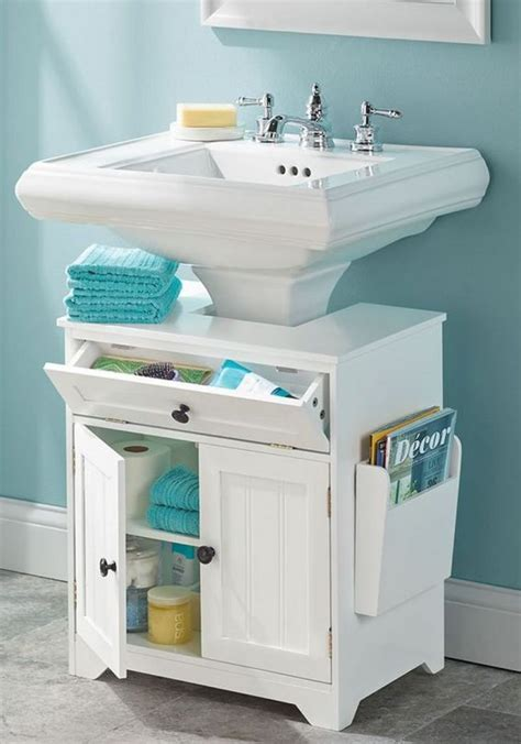 Bathroom Sink Storage 18 Space Saving Ideas For Your Bathroom Pedestal Sink Storage Pedestal Sink And Storage
