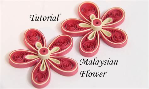 How To Make Flowers With Paper Quilling - tutorial for paper quilled malaysian flower honey s quilling
