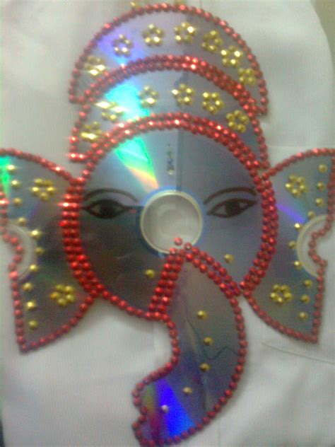 craft from waste material for maha arts crafts cd ganesh vinayagar