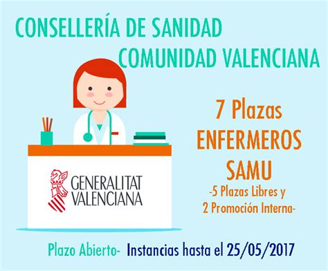 convocatorias comunidad valenciana 2016 i 2017 sanidad comunidad valenciana enfermeros samu grupo venfor