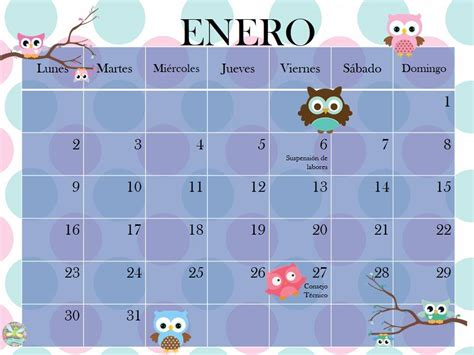 Calendario Mes De Enero 2017 Fant 225 Sticos Planificadores Calendario Mes De Enero