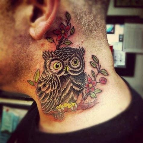 tattoo owl on neck owl tattoos tattoo ideas