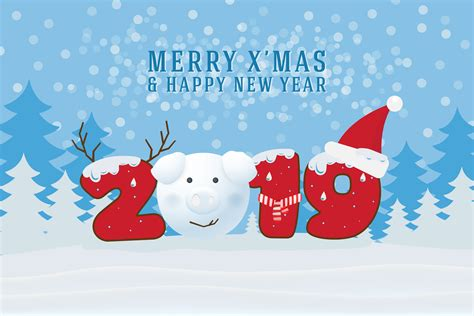 merry christmas  happy  year  christmas greeting card   vectors