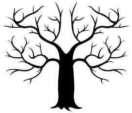 Free Tree Templates Fingerprint Tree Template