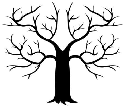Fingerprint Tree Templates Fingerprint Tree Generator Tree Template Free Printable