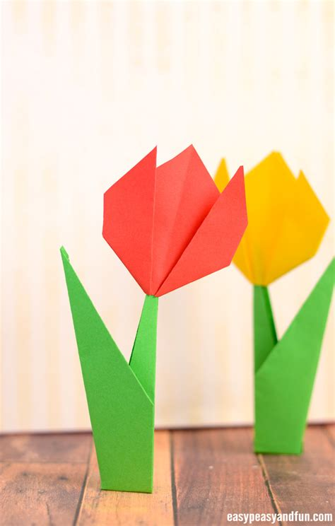 How To Make A Paper Tulip - how to make origami flowers origami tulip tutorial with