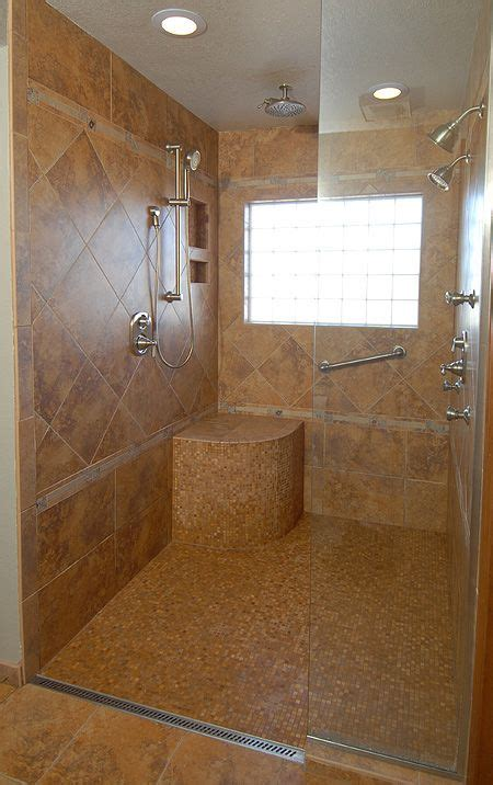 modern handicap bathrooms wheelchair accessible shower with bench hand controls and