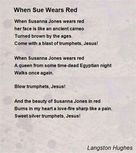 biography of langston hughes poems when sue wears red poem by langston hughes poem hunter