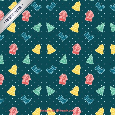 christmas patterns year 1 sketchy colored christmas pattern vector free download