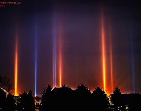 Pillar Of Light by Cold Weather Phenomenon Displays Mesmerizing Light
