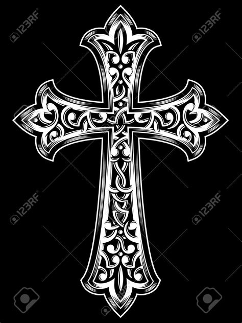 vintage cross tattoos antique christian cross vector cross design