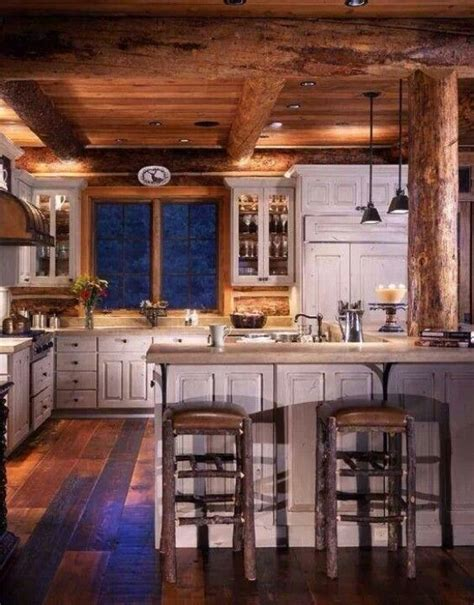Log Cabin Kitchen Cabinets by Log Cabin Kitchen I The Distressed White Cabinets
