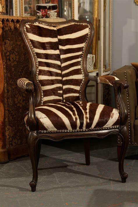 zebra armchair vintage zebra armchair at 1stdibs