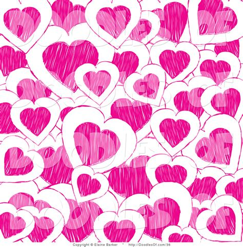 wallpaper doodle pink vector clipart of a valentine s day background of pink