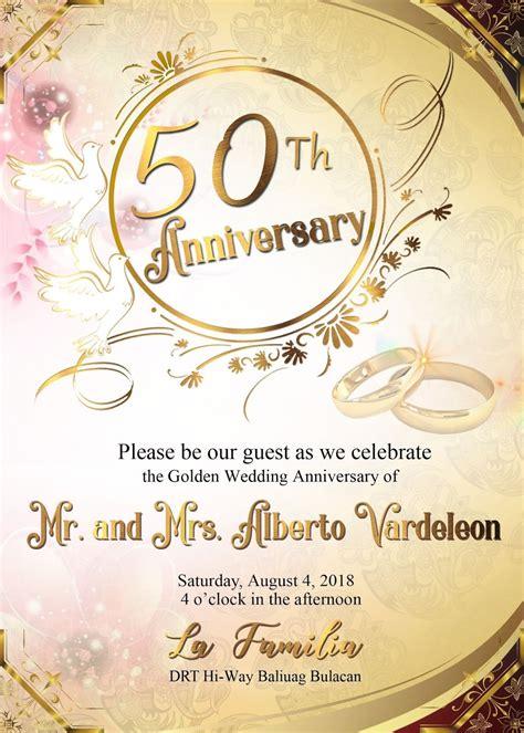 wedding anniversary sample invitation card  layout