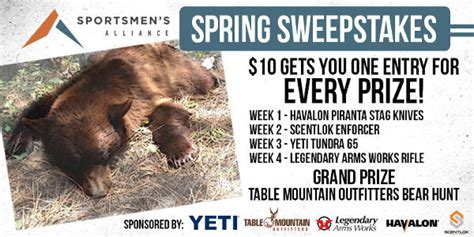 Spring Sweepstakes - sportsmen s alliance launches spring sweepstakes