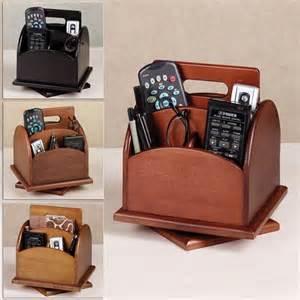 remote holder revolving desk or remote organizer