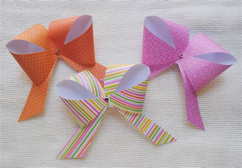 How To Make A Bow On Paper - home of treasures paper bows tutorial
