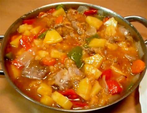 una receta de cocina facil cerdo agridulce receta f 225 cil la cocina de bender