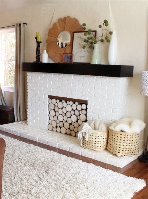 Stacked Logs In Fireplace by 16 Best Images About Fireplace Cover Up On