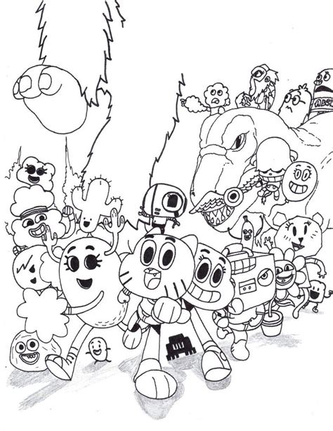 coloring pages for amazing world of gumball free the amazing world gumball coloring pages