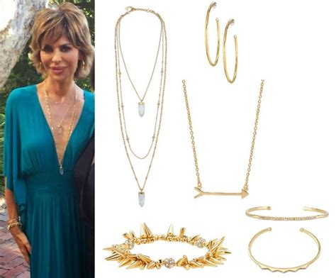 what earrings do the real houses wifes of beverly hills wear lisa rinna s jewelry party look from real housewives of