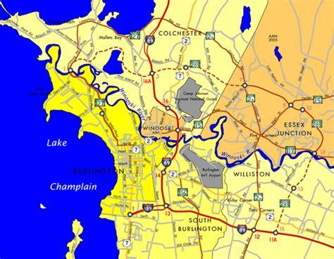 burlington vt map interstate guide interstate 289 vermont chittenden