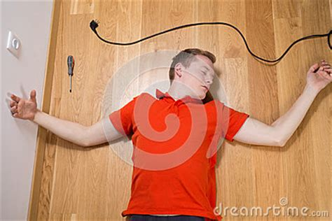unconscious man stock photo image