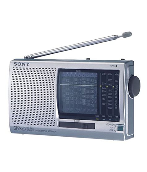 buy sony icf sw11 world band radio silver at best