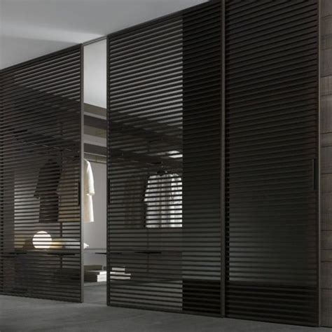 Dressing Room Doors by Modern Walk In Dressing Room With Black Semi Transparent
