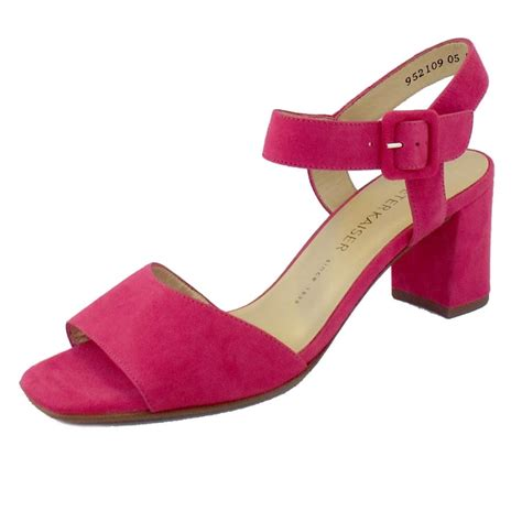 pink sandal heels kaiser karima pink suede open toe sandals