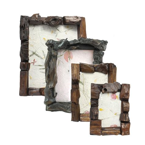 bilderrahmen landhausstil rustikaler bilderrahmen aus holz fotorahmen rahmen
