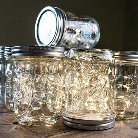 large mason jar table l mason jar fairy lights 16 ounce wide mouth warm white