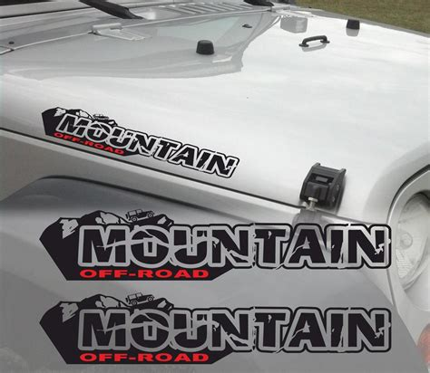 jeep stickers pair of mountain off road wrangler decal set jeep stickers