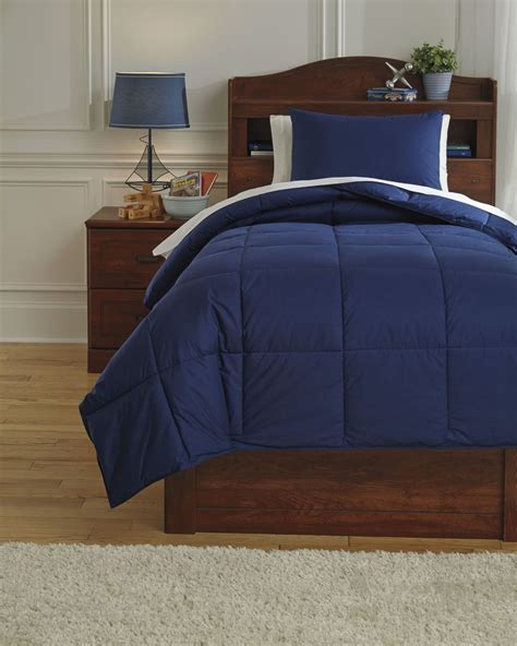 navy twin comforter plainfield navy twin comforter set from ashley q759011t