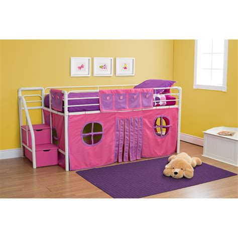 twin girl beds girls twin loft bed with storage steps kids teen