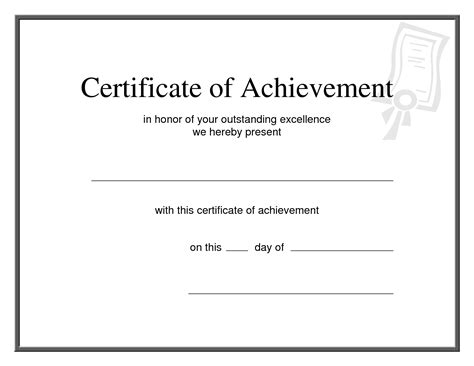 word certificate of achievement template 8 professional