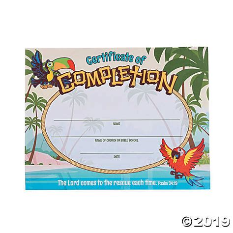 free vbs certificate templates island vbs certificates of completion