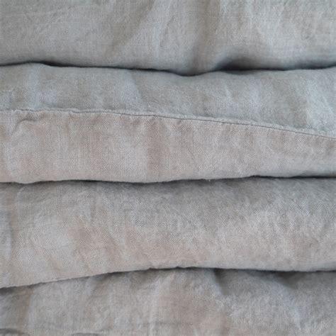linge particulier housse de couette housse de couette en 140 x 200 gris ciel linge