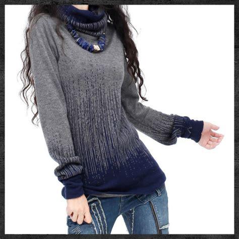 Sweater Black Blue s gradient black blue vintage sweater