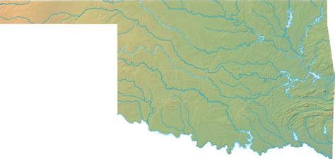 geographical map of oklahoma oklahoma state information and facts at 4