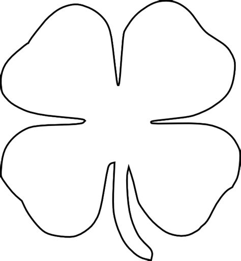 four leaf clover template four leaf clover clip at clker vector clip