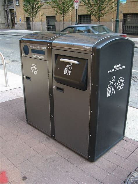 trash compactor beverage center smart trash cans in new york to become wi fi hotspots