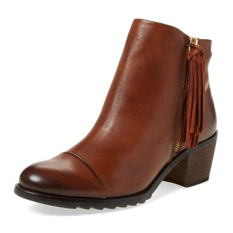 Browny Zipper Heel Boot 1 s brown tassels chunky heels vintage boots zipper ankle boots for work school date