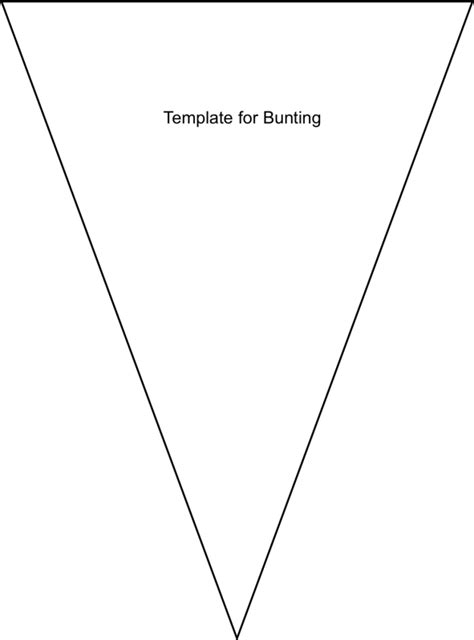 bunting template to print no sew bunting on no sew crafts fabric